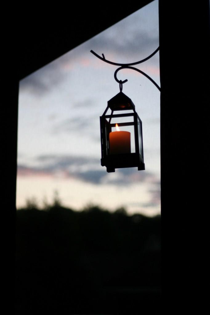 Candle Lantern at dusk