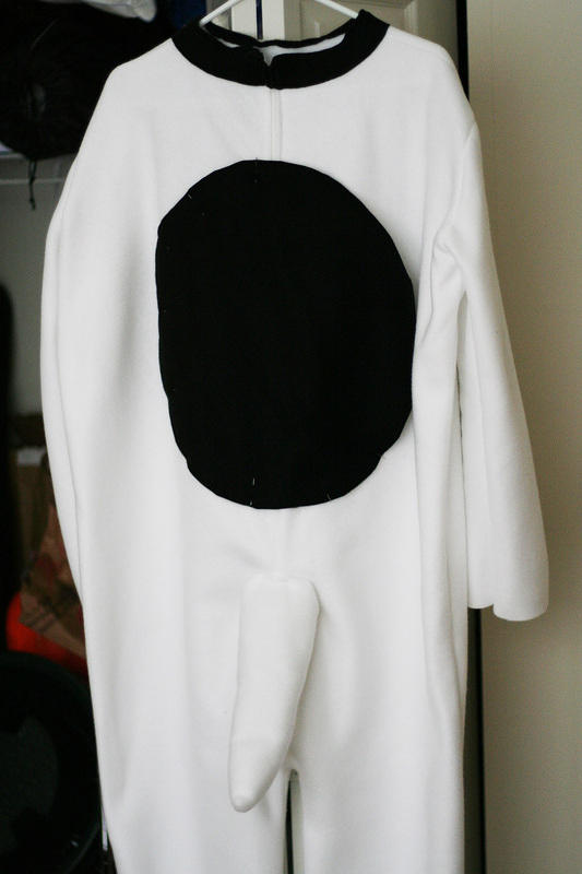 Snoopy's homemade costume