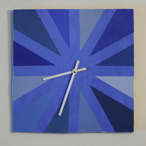 blue wedges clock