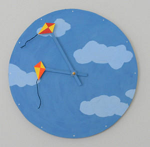 Bright Kites Clock